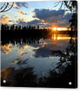 Sunset On Polly Lake Acrylic Print by Larry Ricker