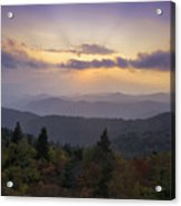 Sunset On The Blue Ridge Parkway Acrylic Print by Rob Travis