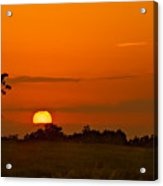 Sunset Over Horicon Marsh Acrylic Print by Steve Gadomski