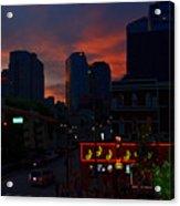 Sunset Over Nashville Acrylic Print by Susanne Van Hulst