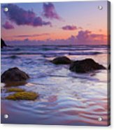 Sunset Ripples Acrylic Print by Mike  Dawson