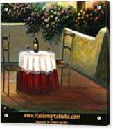 Sunset Table Acrylic Print by Italian Art