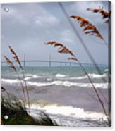 Sunshine Skyway Bridge Viewed From Fort De Soto Park Acrylic Print by Mal Bray