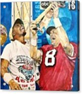 Super Bowl Legends Acrylic Print by Lance Gebhardt