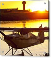 Super Cub At The End Of The Day Acrylic Print by Tim Grams