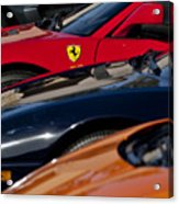 Supercars Ferrari Emblem Acrylic Print by Jill Reger