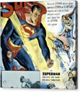 Superman, Serial, Kirk Alyn, Chapter 6 Acrylic Print by Everett