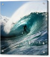 Surfer At Pipeline Acrylic Print by Vince Cavataio - Printscapes