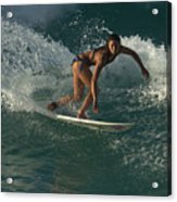 Surfer Girl Acrylic Print by Brad Scott