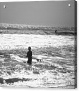 Surfers Acrylic Print by Utopia Concepts