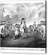 Surrender Of Lord Cornwallis At Yorktown Acrylic Print by War Is Hell Store
