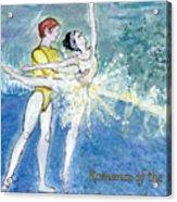 Swan Lake Ballet Poster Acrylic Print by Marie Loh
