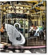 Swan Seat At The Carousel  Acrylic Print by Michael Garyet