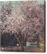 Sweet Kisses Under The Tree Acrylic Print by Laurie Search