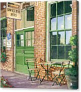 Sweetie Pies Bakery Acrylic Print by Gail Chandler