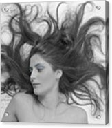 Swirl Girl Acrylic Print by Gerard Fritz