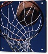 Swish.  A Basketball Acrylic Print by Stacy Gold