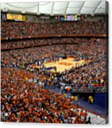 Syracuse Orange Carrier Dome Acrylic Print by Replay Photos