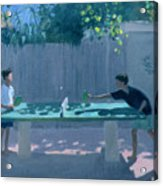 Table Tennis Acrylic Print by Andrew Macara