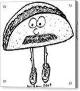 Taco Mustache Acrylic Print by Karl Addison