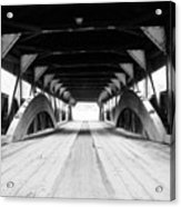 Taftsville Covered Bridge Acrylic Print by Greg Fortier