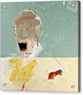 Talking Head Acrylic Print by Cliff Spohn