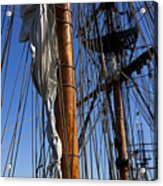 Tall Ship Rigging Lady Washington Acrylic Print by Garry Gay