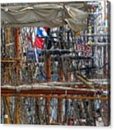 Tall Ship Series 4 Acrylic Print by Scott Hovind