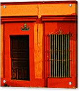 Tangerine Casa By Michael Fitzpatrick Acrylic Print by Mexicolors Art Photography