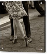 Tango In The Park Acrylic Print by Leslie Leda
