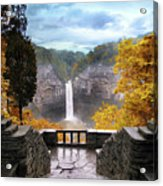 Taughannock In Autumn Acrylic Print by Jessica Jenney