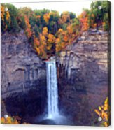 Taughannock Waterfalls In Autumn Acrylic Print by Paul Ge