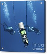 Technical Divers Ascend Near A Nitrox Acrylic Print by Karen Doody