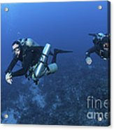 Technical Divers With Equipment Acrylic Print by Karen Doody
