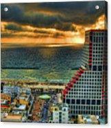 Tel Aviv Lego Acrylic Print by Ron Shoshani