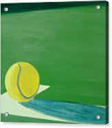 Tennis Reflections Acrylic Print by Ken Pursley