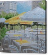 Terrace Cafe Acrylic Print by Robert Rohrich