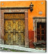 Terracotta Wall 1 Acrylic Print by Mexicolors Art Photography