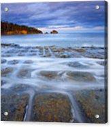 Tesselated Sunset Acrylic Print by Mike  Dawson