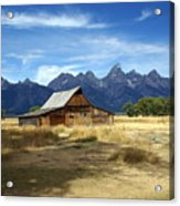 Teton Barn 3 Acrylic Print by Marty Koch