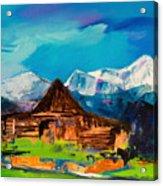 Teton Barn  Acrylic Print by Elise Palmigiani