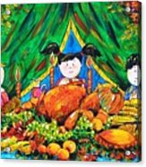 Thanksgiving Day Acrylic Print by Zaira Dzhaubaeva