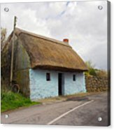 Thatch Roof Cottage Galway Acrylic Print by Pierre Leclerc Photography