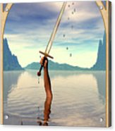 The Ace Of Swords Acrylic Print by John Edwards