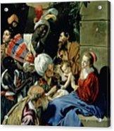 The Adoration Of The Kings Acrylic Print by Fray Juan Batista Maino