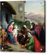 The Adoration Of The Magi Acrylic Print by Jean Pierre Granger