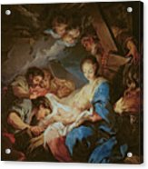The Adoration Of The Shepherds Acrylic Print by Charle van Loo