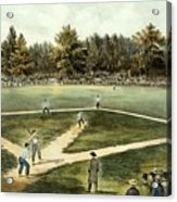 The American National Game Of Baseball Grand Match At Elysian Fields Acrylic Print by Currier and Ives