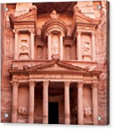 The Ancient Treasury Petra Acrylic Print by Jane Rix