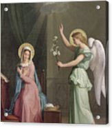 The Annunciation Acrylic Print by Auguste Pichon